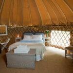 Inside a Rock Farm Slane Yurt, Rock Farm Slane